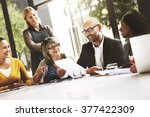 business people meeting... | Shutterstock . vector #377422309