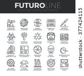 modern thin line icons set of... | Shutterstock .eps vector #377424115