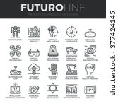 modern thin line icons set of... | Shutterstock .eps vector #377424145