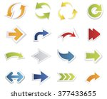 arrows collection | Shutterstock .eps vector #377433655
