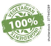 vegetarian ingredients 100... | Shutterstock . vector #377445289