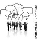 a group or team of business... | Shutterstock . vector #37744930