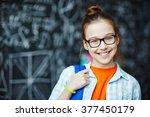 schoolgirl | Shutterstock . vector #377450179