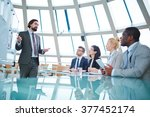speaking at conference | Shutterstock . vector #377452174
