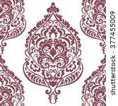 vector vintage damask pattern... | Shutterstock .eps vector #377455009