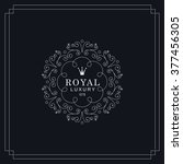 royal luxury emblem template.  | Shutterstock .eps vector #377456305