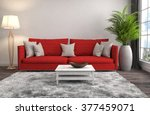 interior with sofa. 3d... | Shutterstock . vector #377459071