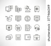 finance icons set | Shutterstock .eps vector #377466349