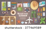 flat vector web banner on the... | Shutterstock .eps vector #377469589
