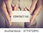 """"""" contact us """" word on card... 