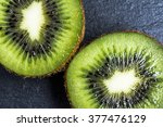 Halves Of Kiwi Macro Backgroun...