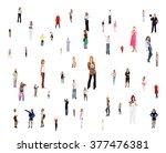 achievement idea workforce...   Shutterstock . vector #377476381