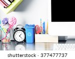 Modern work space in teen room. ...