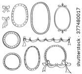 set of round and oval frames.... | Shutterstock .eps vector #377480017