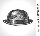 Bowler Hat. Hand Drawn Vintage...