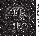 vector happy birthday card.... | Shutterstock .eps vector #377486644