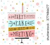 vector happy birthday card.... | Shutterstock .eps vector #377486677