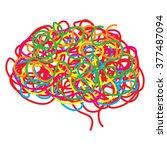 concept of the human brain ... | Shutterstock .eps vector #377487094