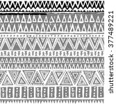 black and white tribal navajo... | Shutterstock .eps vector #377489221