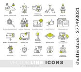 thin line icons set. business... | Shutterstock .eps vector #377493031