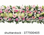 Bunch Flowers Isolated On Whit...