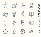 energy line icons | Shutterstock .eps vector #377506801