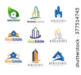 real estate logo design set.... | Shutterstock .eps vector #377514745