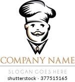 chef cuisine restaurant modern... | Shutterstock .eps vector #377515165