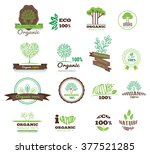 set of logos  stamps  badges ... | Shutterstock .eps vector #377521285