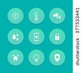 smart house icons  cctv ...