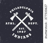 philadelphia indians emblem ... | Shutterstock .eps vector #377533627