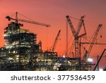 oil refinery construction in...   Shutterstock . vector #377536459