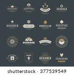 vintage logos design templates... | Shutterstock .eps vector #377539549