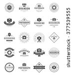 photographer logo templates set.... | Shutterstock .eps vector #377539555