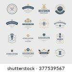 vintage logos design templates... | Shutterstock .eps vector #377539567