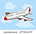 airplane  a hand drawn vector... | Shutterstock .eps vector #377541379