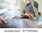 businessman making presentation ...   Shutterstock . vector #377545381
