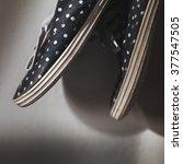 Polka Dot Sneakers Black And...