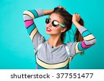 fashion lifestyle portrait of... | Shutterstock . vector #377551477