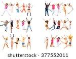 team achievement over white  | Shutterstock . vector #377552011