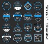 vector set of vintage  symbols... | Shutterstock .eps vector #377555257