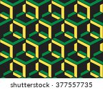 abstract geometric isometric... | Shutterstock .eps vector #377557735