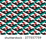 abstract geometric isometric... | Shutterstock .eps vector #377557759