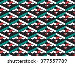 abstract geometric isometric... | Shutterstock .eps vector #377557789