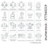 banking service icons. vector... | Shutterstock .eps vector #377560219