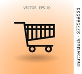flat icon of shopping chart | Shutterstock .eps vector #377566531