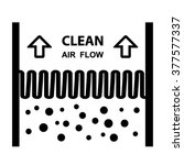 vector air filter effect symbol | Shutterstock .eps vector #377577337
