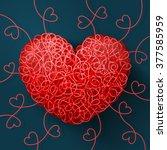 heart weaved from variety of...   Shutterstock .eps vector #377585959