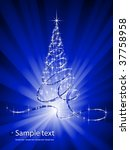 christmas abstraction. | Shutterstock .eps vector #37758958