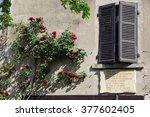 perouges  france   29 april ...   Shutterstock . vector #377602405